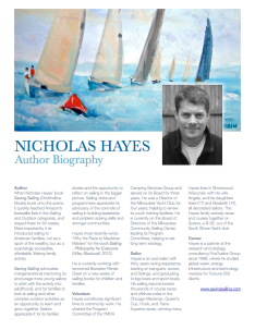 Download Nicholas Hayes' Biography Here
