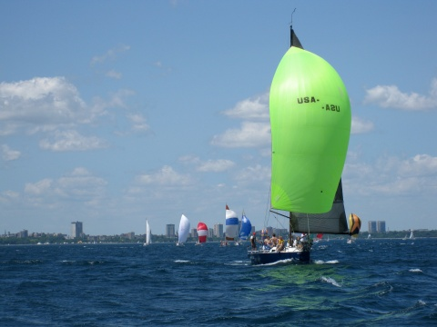 Spinnakers on Milwaukee Bay